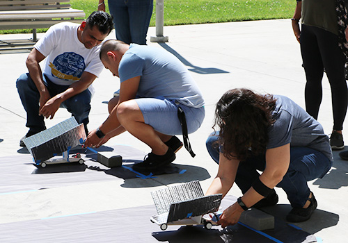 Summer Institute Workshops offer teachers free professional development training through workshops focused on innovations in STEM education, including LEGO robotics, nature journaling, solar car engineering and more.